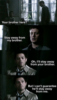 Castiel's got cheek by Greeneyesmetblack