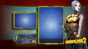 Borderlands2 Wallpaper - Interface V3 Maya by mentalmars