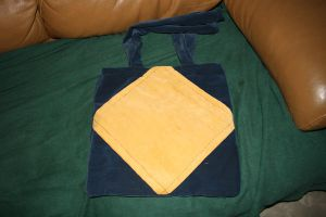 Blue and yellow diamond bag by moordred-fangirl