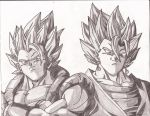 Gogeta and Vegito by superheroarts