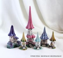 Flowers Summer Houses of tiny fairies by vavaleff