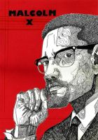 Malcolm X by lasuricata