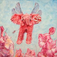 Pink Elephant by Vincik