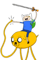 Adventure Time - Finn and Jake by crashdummy55