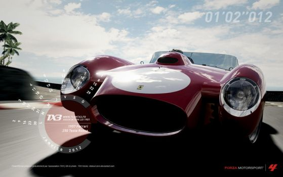 1957 Ferrari - 250 Testa Rossa by about-zero