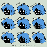 kcalb faces by artist-black