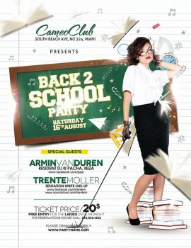 Back 2 School Party - with model space by outlawv15