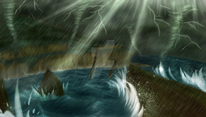 Stormy Sea by FrostPuppy96