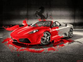 Ferrari Red splash wallpapers by w4y