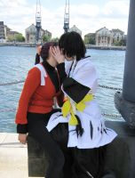 Soifon and Yoruichi - The Kiss by TyraelsWings