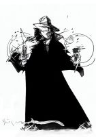 Daily Sketches ink BILL SIENKIEWICZ the Shadow by fedde