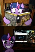 Twilight Sparkle is Excited for The Hobbit by ShadyHorseman
