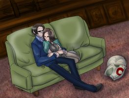 XMEN - Charles and Moira by liliy