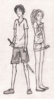 Percy and Annabeth by bonnie001