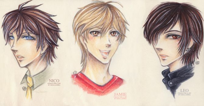Generations Mini-Portraits: Nico, Jamie and Leo by Khallandra