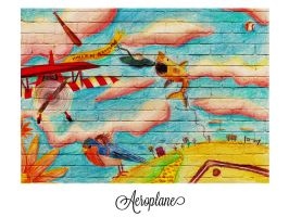 Aeroplane Mural by Autopsyh