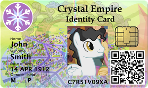 Crystal Empire Identity Card by jeurobrony
