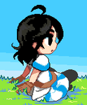 Sitting pixel by Jump-Button