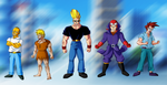 Cartoons in DBZ Style by Ninja-Master-Tommy