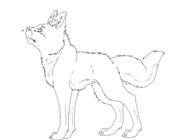 Dog Line Art by SandPath101