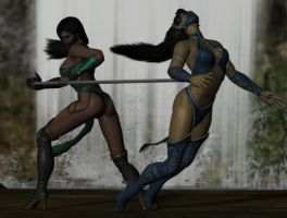 Jade vs Kitana by virus2015x