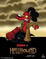 Jenn and Bueno: Hellhound by StudioBueno