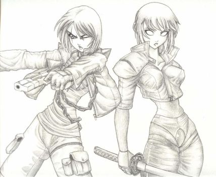 Mallory and Ageha by leonalmasy