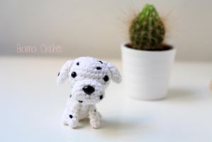 Dalmata Kawaii Amigurumi dog plush by BramaCrochet