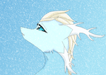 Elsa the ice dragon by HeroHeart001