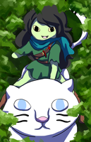 Adventure Time - Riding Through the Forest by khiro