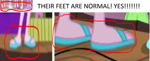Equestria Girls 2- Their feet are normal! by malikwun8