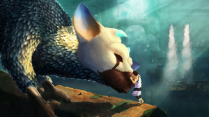 The last guardian : Petting Trico by Istrandar