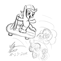 Scootin Scootaloo by stewi0001