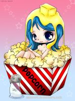 Butter Popcorn Girl by tesumii