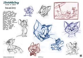 Tom and Jerry Sketch gallery 2 by celaoxxx