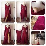 Cersei Lannister - 3rd season Burgundy Dress by xxxStarlaxxx