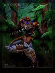 Dinobot in a forest by WaywardInsecticon