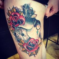 Alex Roze Neotrdatinional Mouse Watch Roses Ha by HammersmithTattoo