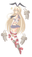 Shimakaze-chan (colored linework) by Justcallmeanerd