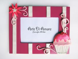 Pink Cupcake Frame by ArteDiAmore