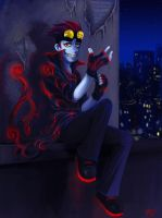 Shadow armor: Jack Spicer by Blookarot
