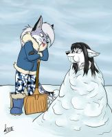 Pleasing the Snow Queen by Levvvar