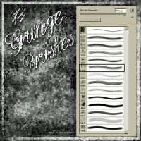 Grunge Brushes by kuschelirmel-stock