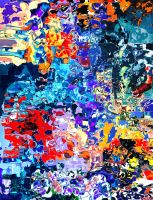 Daub(Action Painting) by moppaa