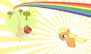 Applejack Filly Wall by Evilarticfox