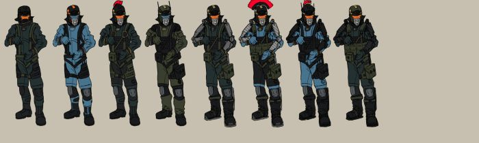 Military spacesuits by EOTB