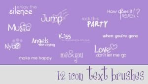 Cute Icon Text Brushes by konata175