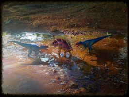 Battleground in the watering hole by zoome3