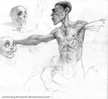 Black Dude Pencil by SuminskyArtwork