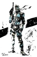 MGS1_Solid Snake by mansarali